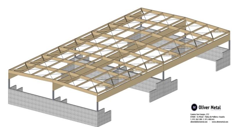 Carpinter a met lica de aluminio hierro y acero - Estructura madera laminada ...